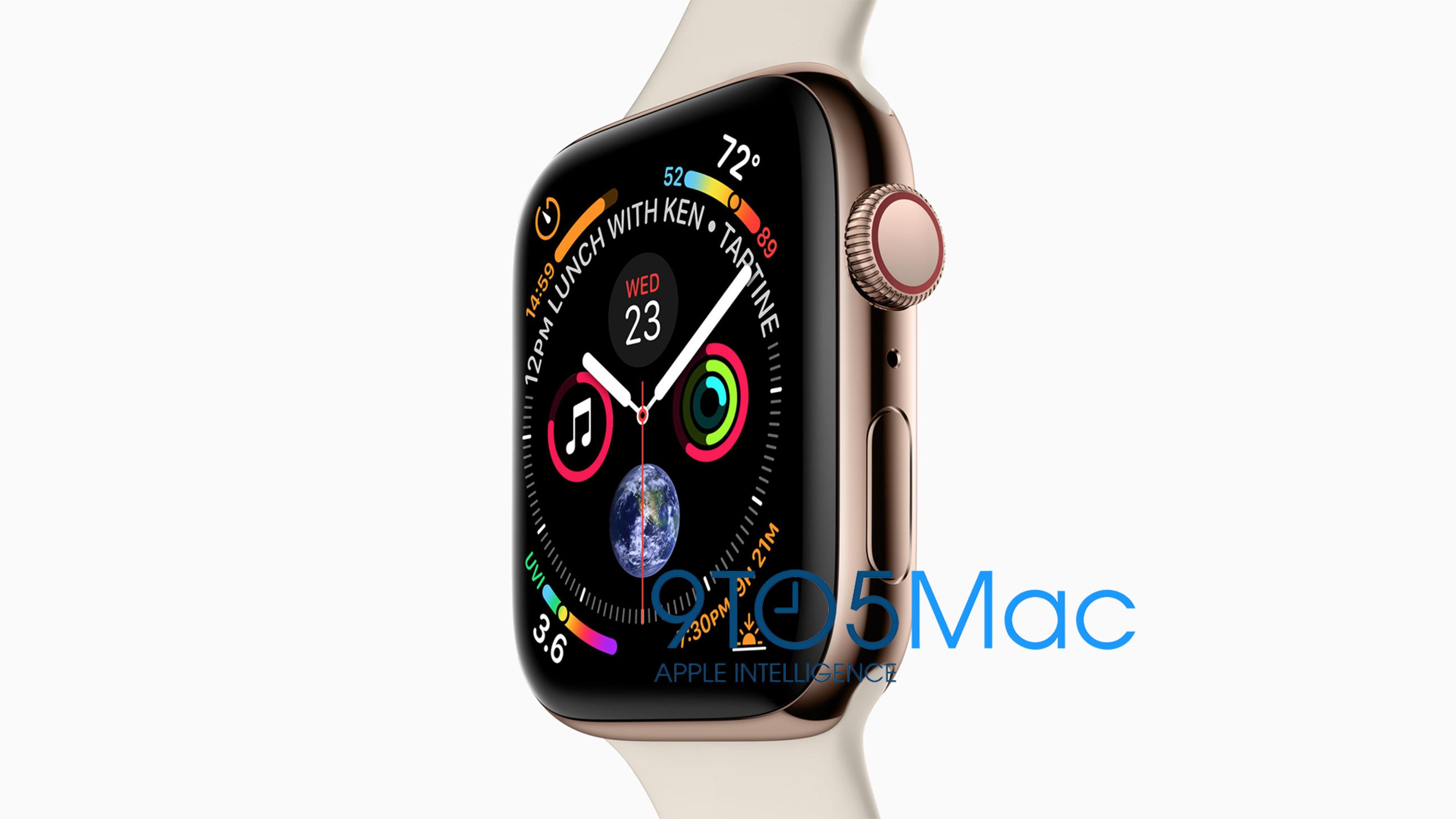 Apple Watch Series 4の画像流出。画面のベゼルレス化などデザイン改善、新色ゴールド登場か