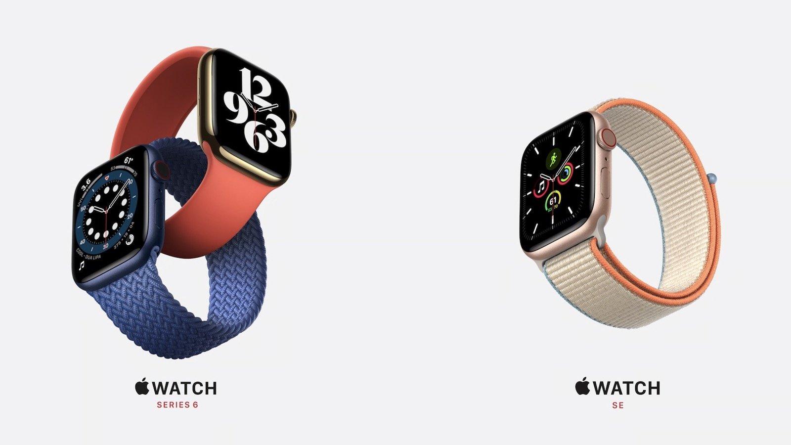 Apple Watch Series 6/SEが発売。革新的なウェルネスと低価格モデル