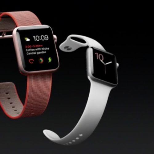 アップル、「Apple Watch Series2」を発表。水深50mの防水対応、FeliCa・GPS搭載。発売日は9月16日