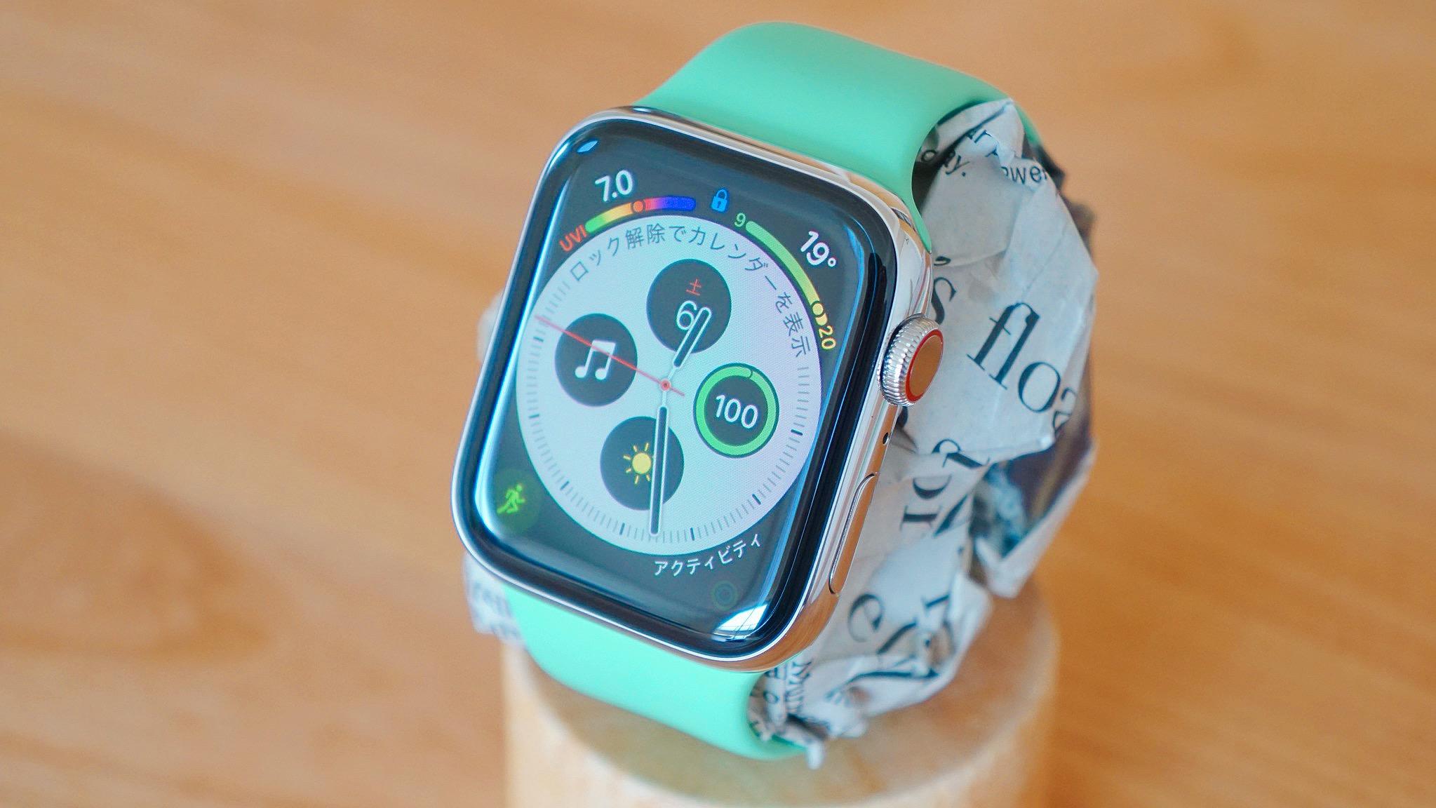 Apple Watch スペアミントスポーツバンド レビュー