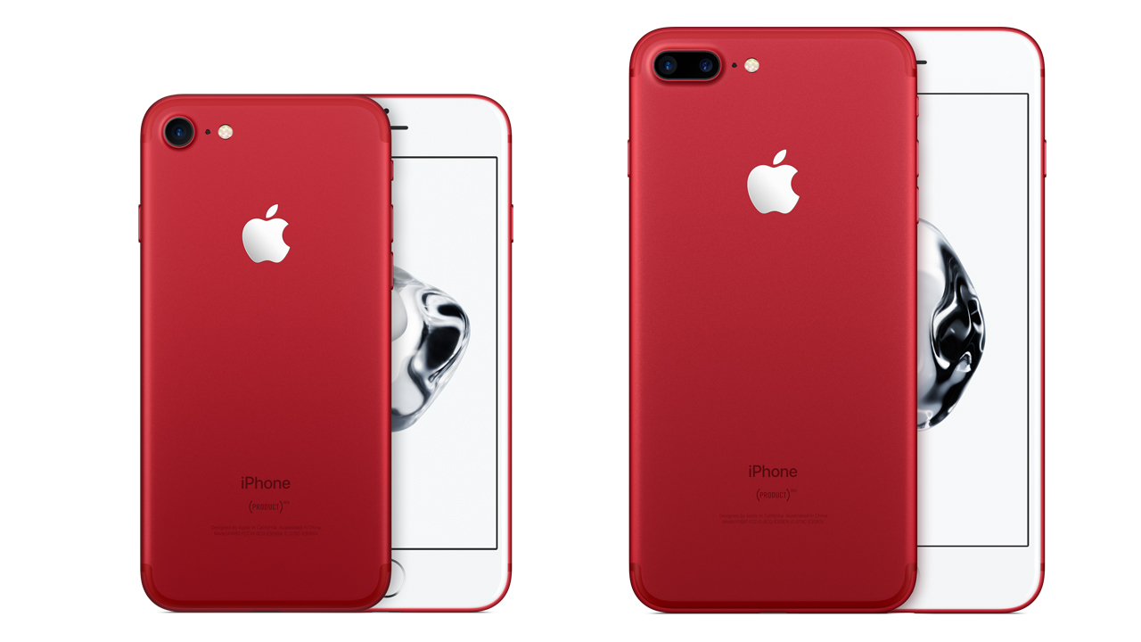 ドコモとau、「iPhone 7 (PRODUCT) RED Special Edition」と新しいiPadを発売