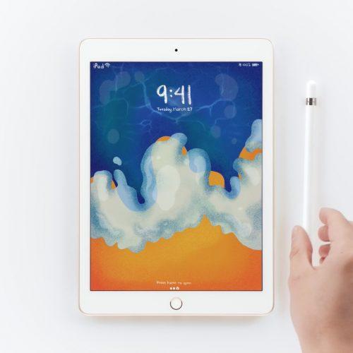 au、Apple Pencil対応の新しい「iPad」を4月4日発売。実質0円で