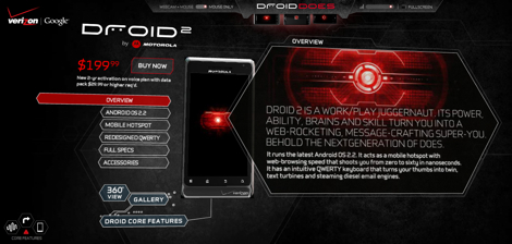 Verizonから「Droid2 Global」がついに発売!
