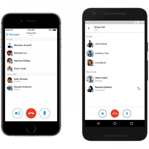 Facebook、最大50人で利用できるグループ通話を発表