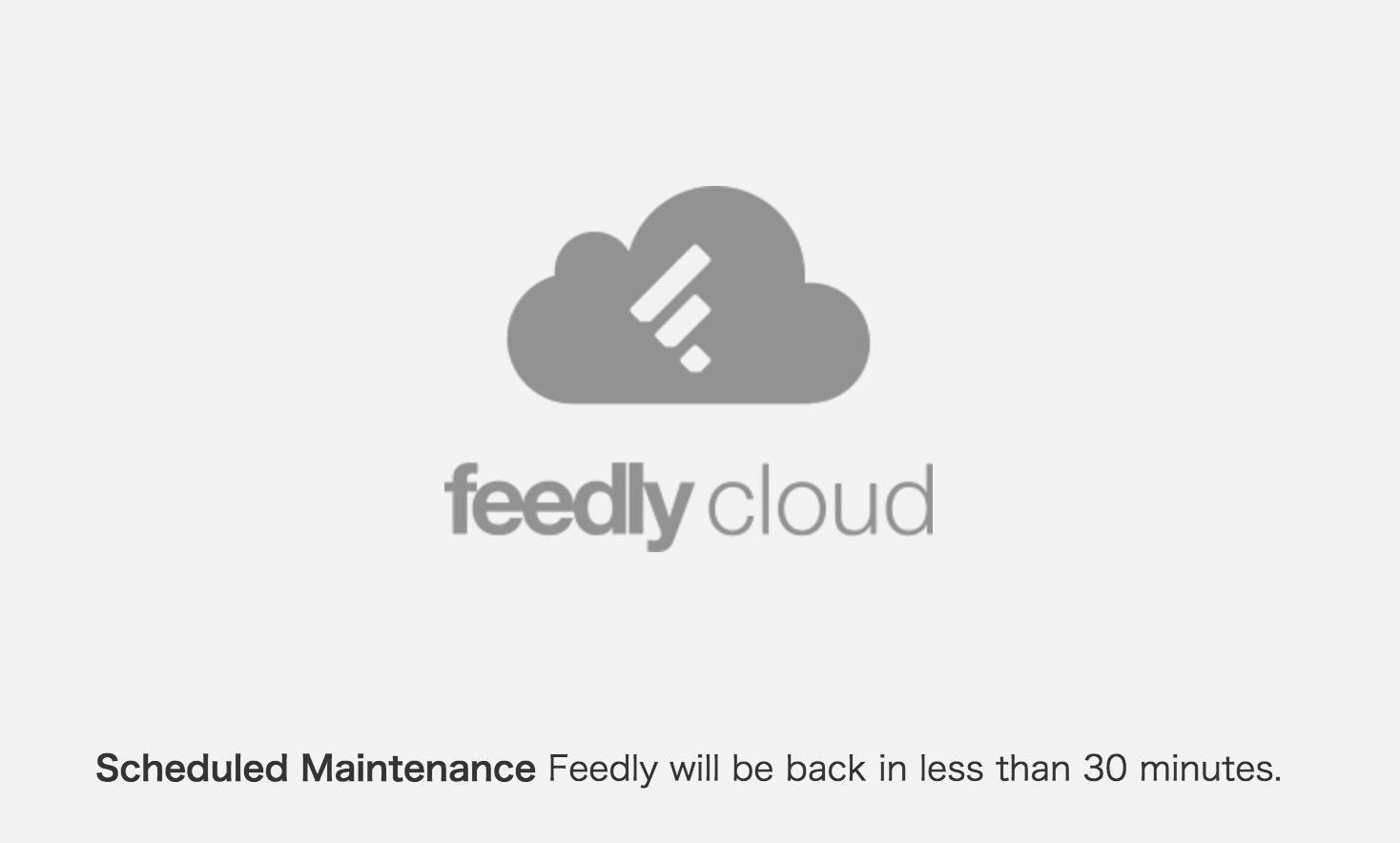 復旧:feedlyでネットワーク障害、Reederなど利用不可に