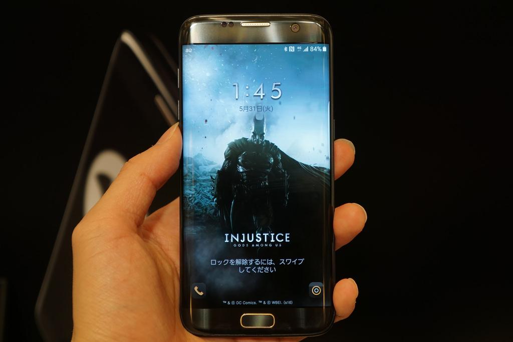 100台限定バットマンモデル「Galaxy S7 edge Injustice Edition」フォトレビュー