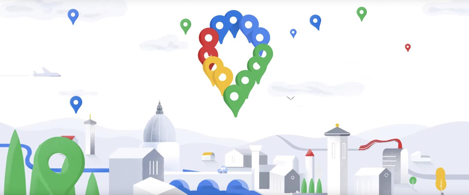 Googleマップが15周年。新しいアイコンと新機能が登場