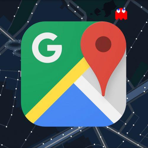 Googleマップアプリで「パックマン」がプレイ可能に〜エイプリルフール