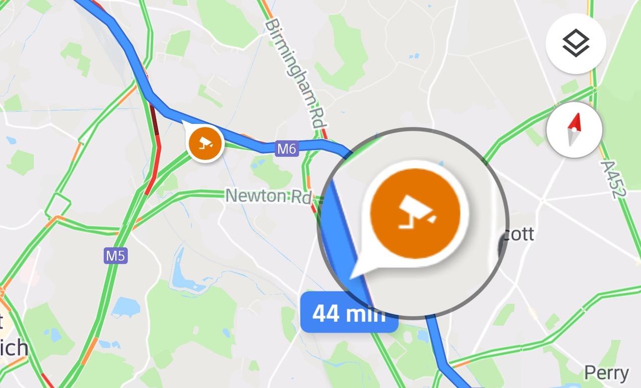Googleマップ、スピード違反取締機の位置と制限速度を地図上に表示・警告する機能が追加