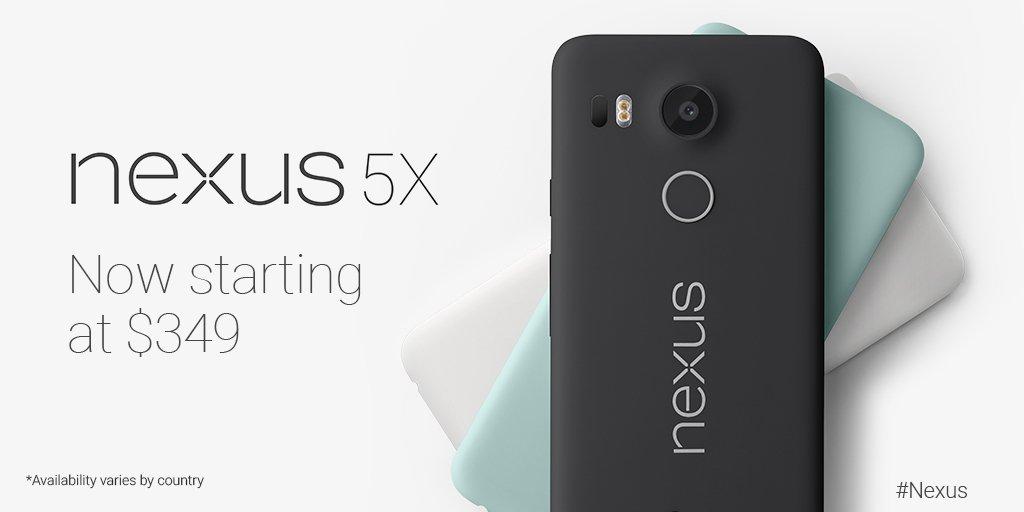 Google Storeで「Nexus 5X」が7,000円の値下げ、59,300円→52,300円に