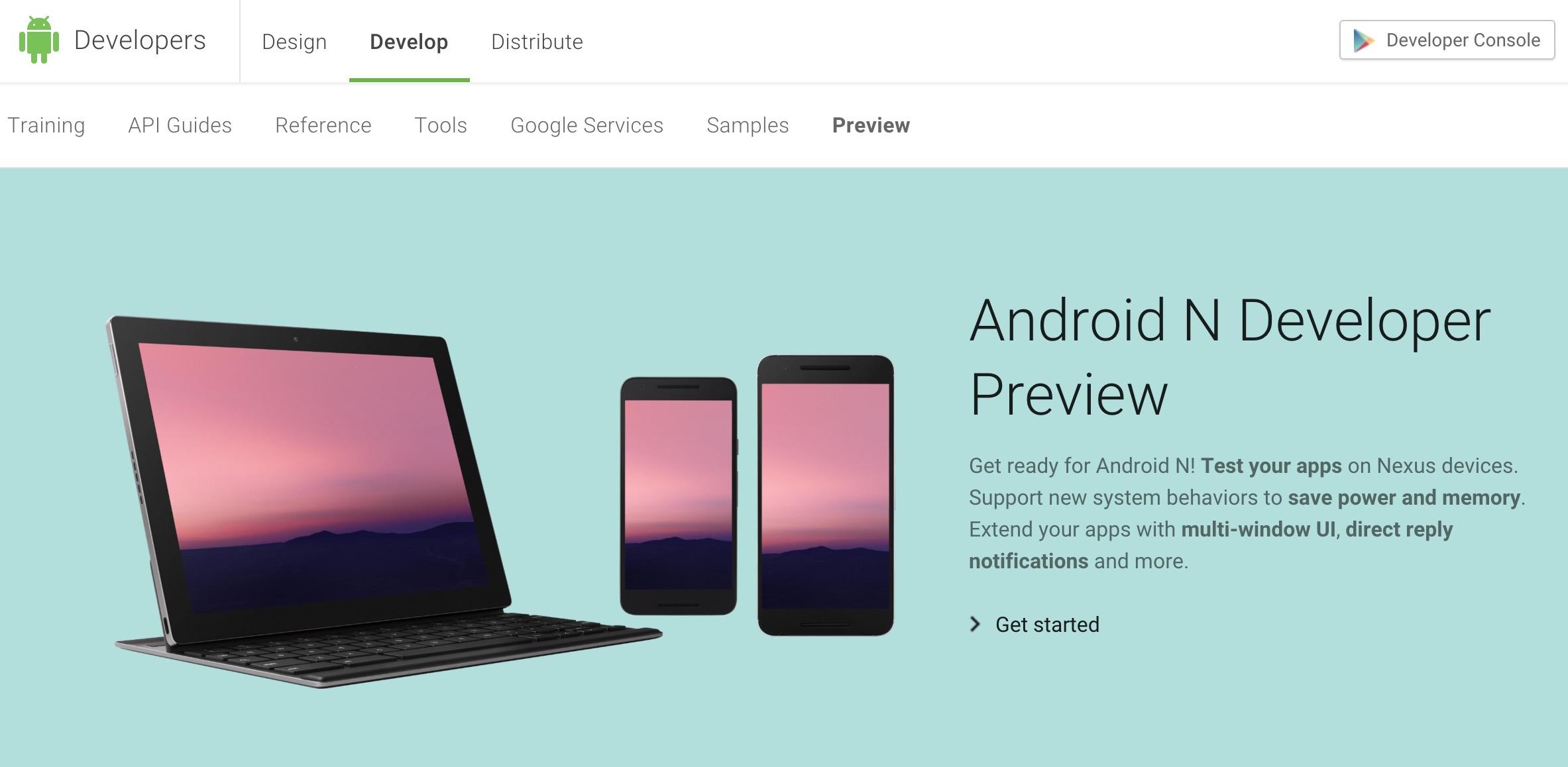 速報:グーグル、Android Nのデベロッパープレビューを公開、正式版は10月以降に