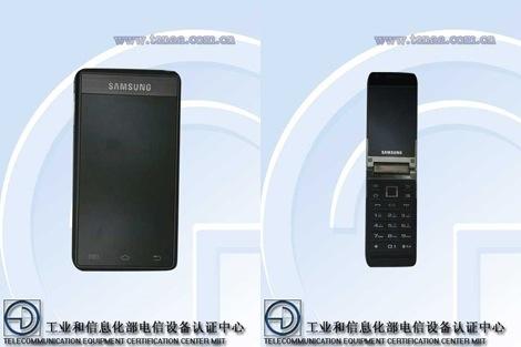 タッチパネル2つとテンキーを搭載したクラムシェルのスマート&フィーチャーフォンが開発中?