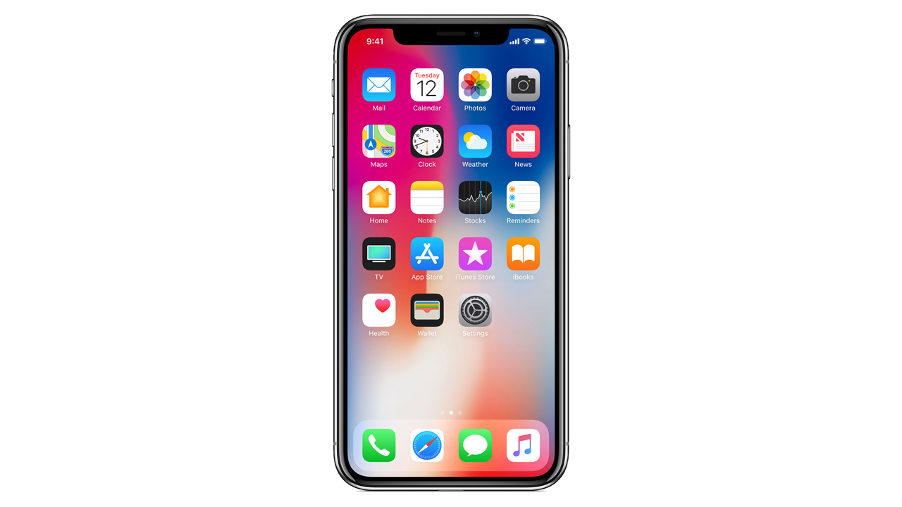 「iPhone XS」でホーム画面に戻る方法