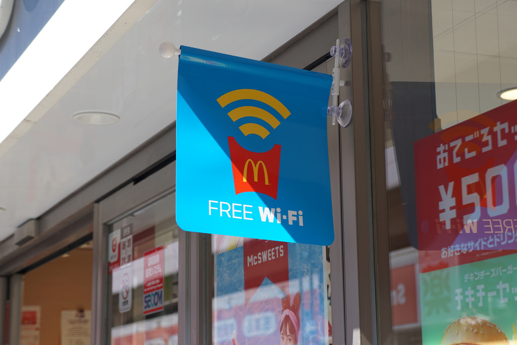 マクドナルドの無料Wi-Fiの使い方(接続方法・繋がらない・パスワードなど)