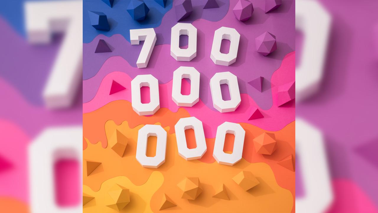 インスタグラム、ユーザー数が7億人に到達。わずか4ヶ月で1億人増加