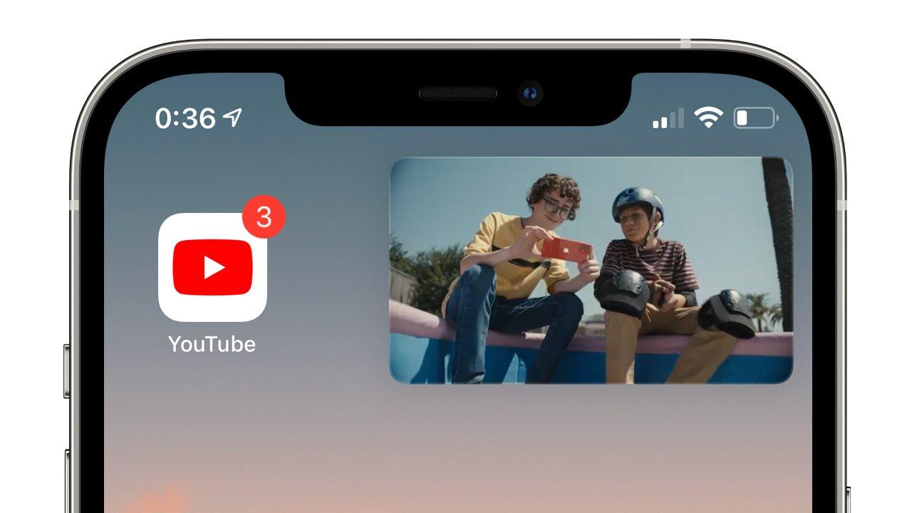 iOS 14.5、YouTubeで再びピクチャ・イン・ピクチャに対応