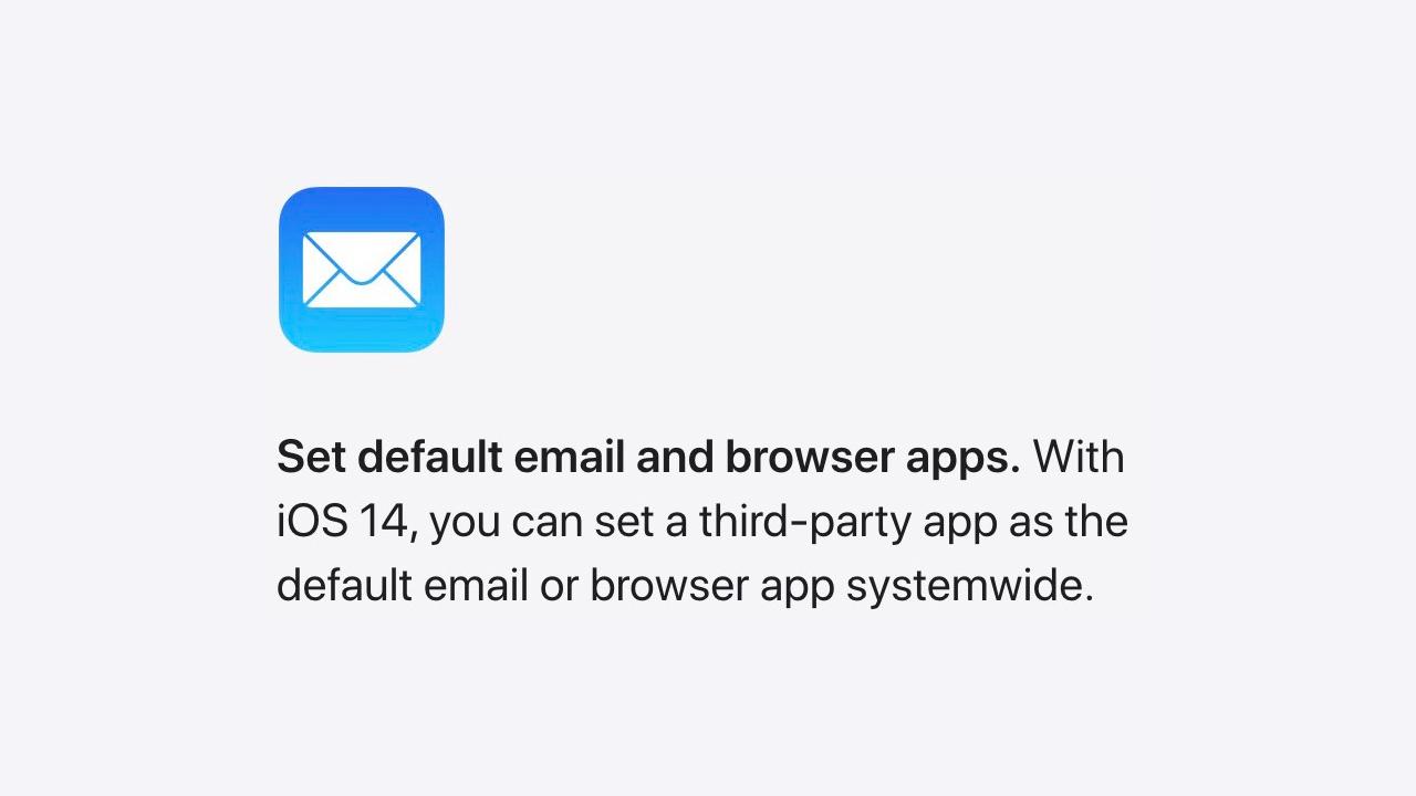 iOS 14、ついにデフォルトアプリの変更解禁。Safariとメールで