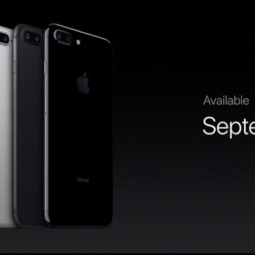 iPhone 7 / iPhone 7 Plusの発売日は9月16日。予約は9月9日から