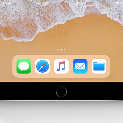 「iPhone 8」に搭載されるアプリ用「Dock」はこんな感じ?
