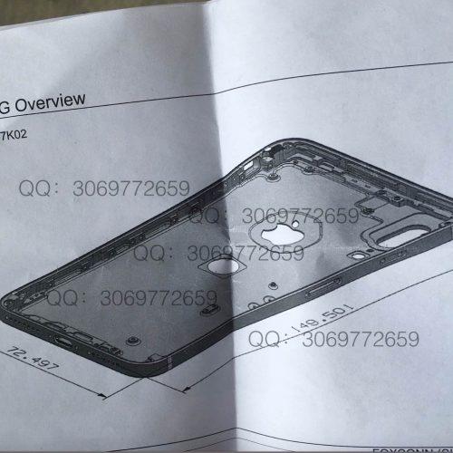 iPhone 8の図面がリーク。Touch IDが背面に移動、デュアルカメラは縦並びに変更の噂