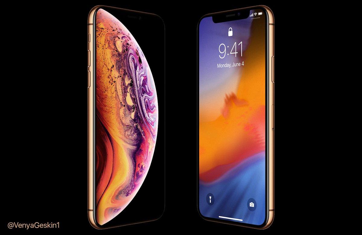 見れば欲しくなる 新型「iPhone XS」ゴールドカラーのレンダー画像