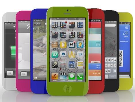 iPhone5のピンクが発売されるという怪しげな画像が出回る。
