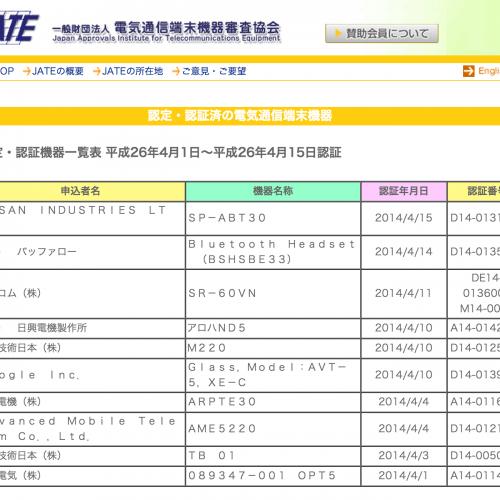 ついにGoogle GlassがJATEを通過!日本で発売されるかもしれん!?