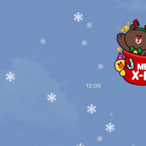 クリスマスでLINEのトーク画面に雪、今年は2回目⛄