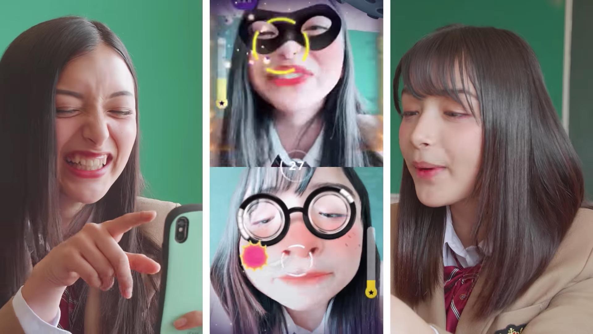 LINE、ビデオ通話を使った新感覚・顔ゲーム「Face Play」が登場