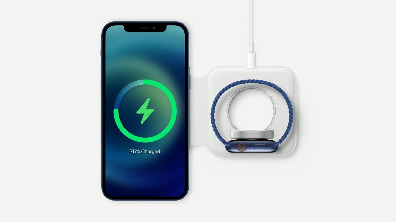 Apple、「MagSafeデュアル充電パッド」発売。iPhoneとApple Watchの同時充電