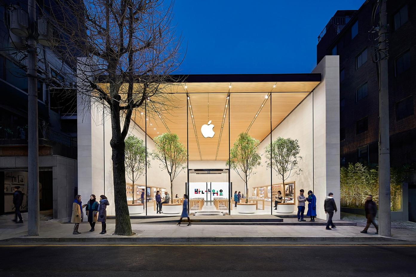 Apple福岡天神、韓国のカロスキルのようなデザインにリニューアルされる?