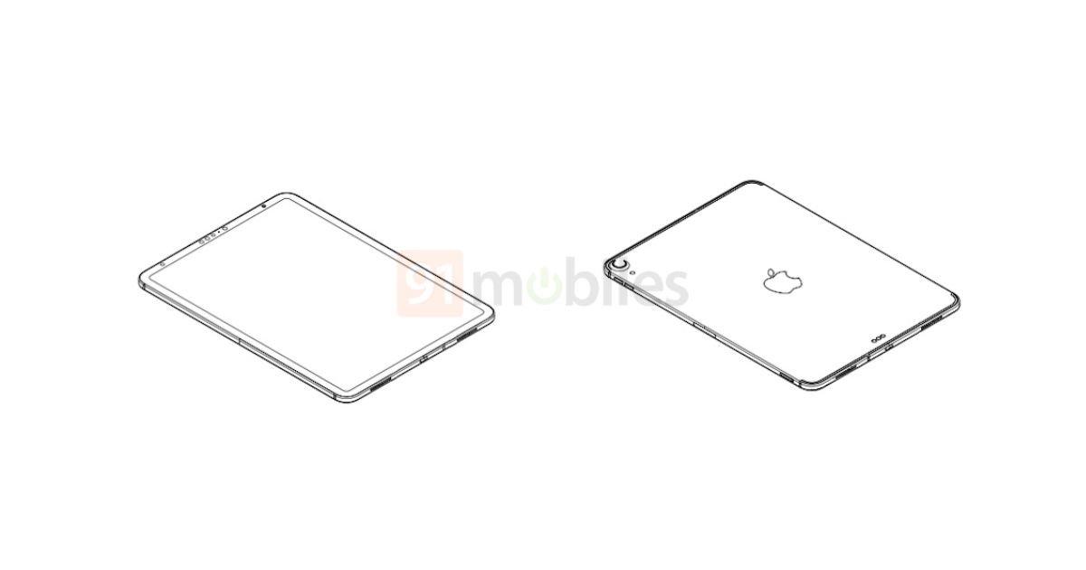 新型iPadの図面流出。iPad Proデザインで顔認証対応か