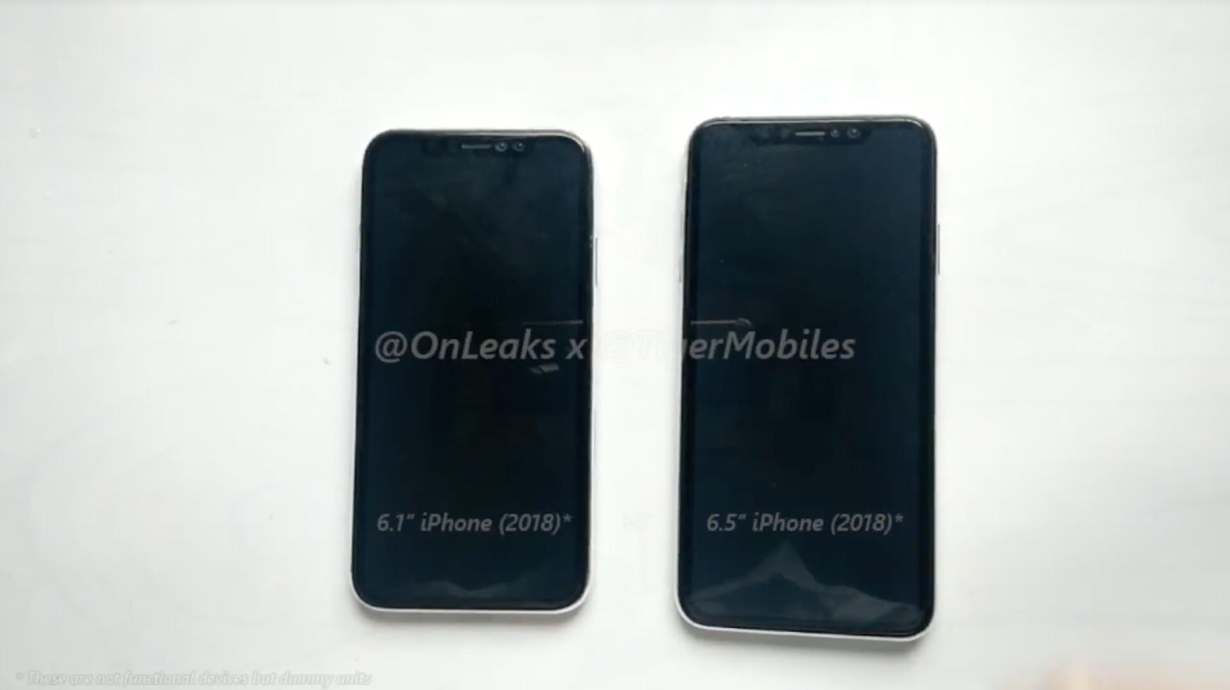 新型iPhone、6.1インチ・6.5インチのダミーモデル動画が公開