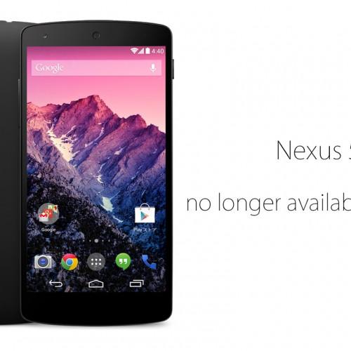 グーグル、Nexus 5の販売を終了したと発表――Google Playストア