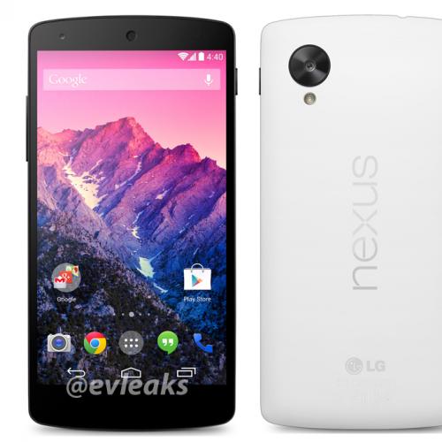 Nexus 5の発売日は11月1日に?ー新たにホワイトカラーの画像もリーク
