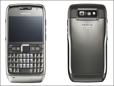 Nokia E71 – スリムなスマートフォン。