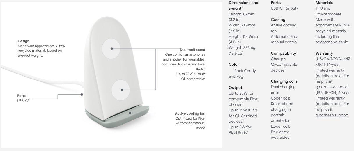 新型Pixel Stand 2は充電出力2倍。価格は79ドルで据え置きか