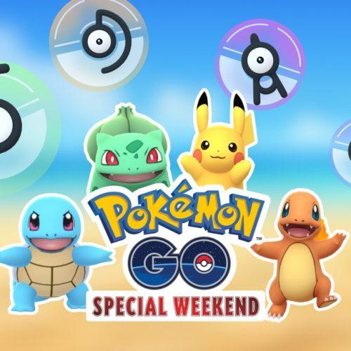 ポケモンGO、4日間限定でアンノーンがゲットできるスペシャルウィークエンドを開催!