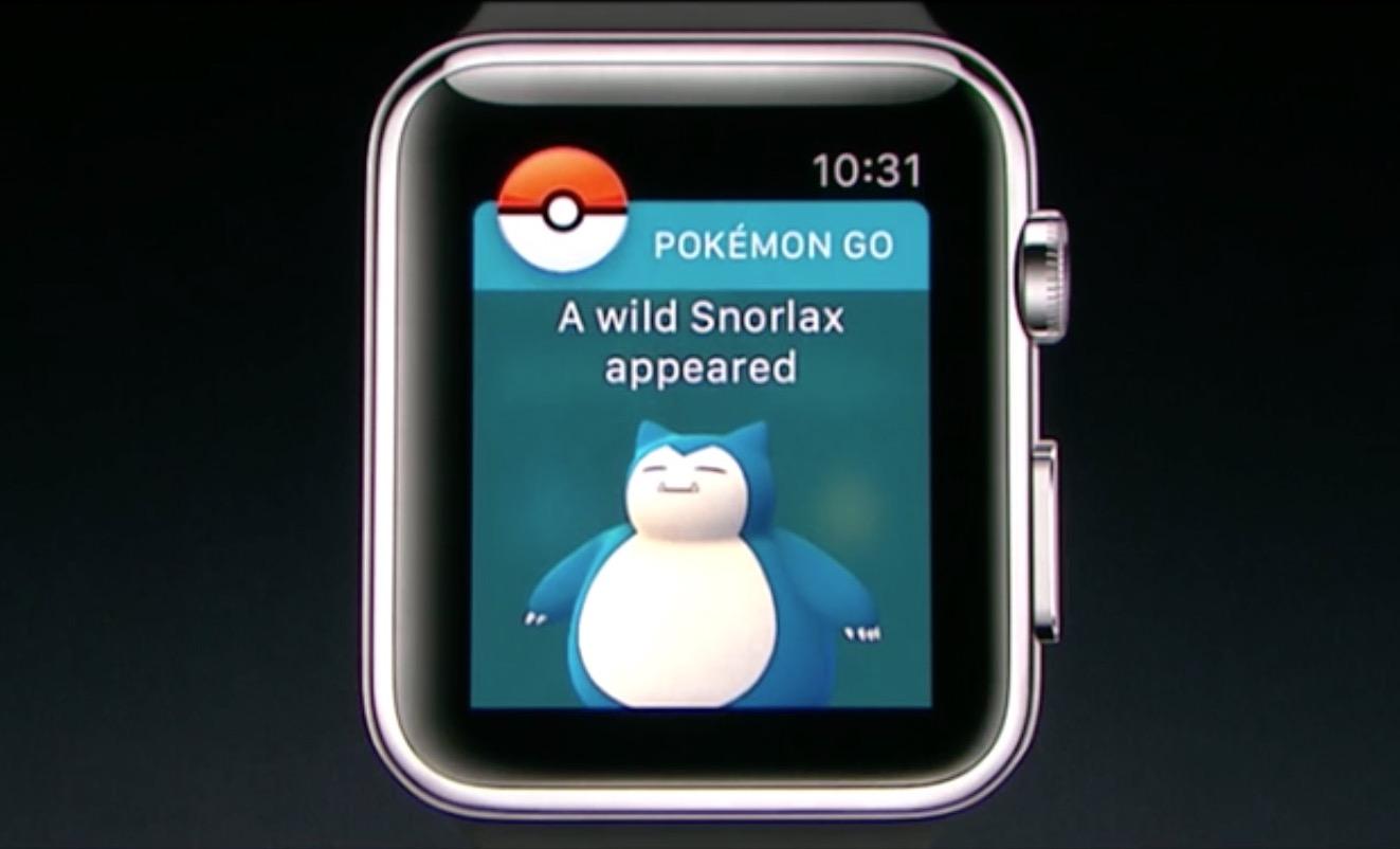 ポケモンGO、Apple Watchに対応へ。近くのポケモンやポケストップのチェックも可能に