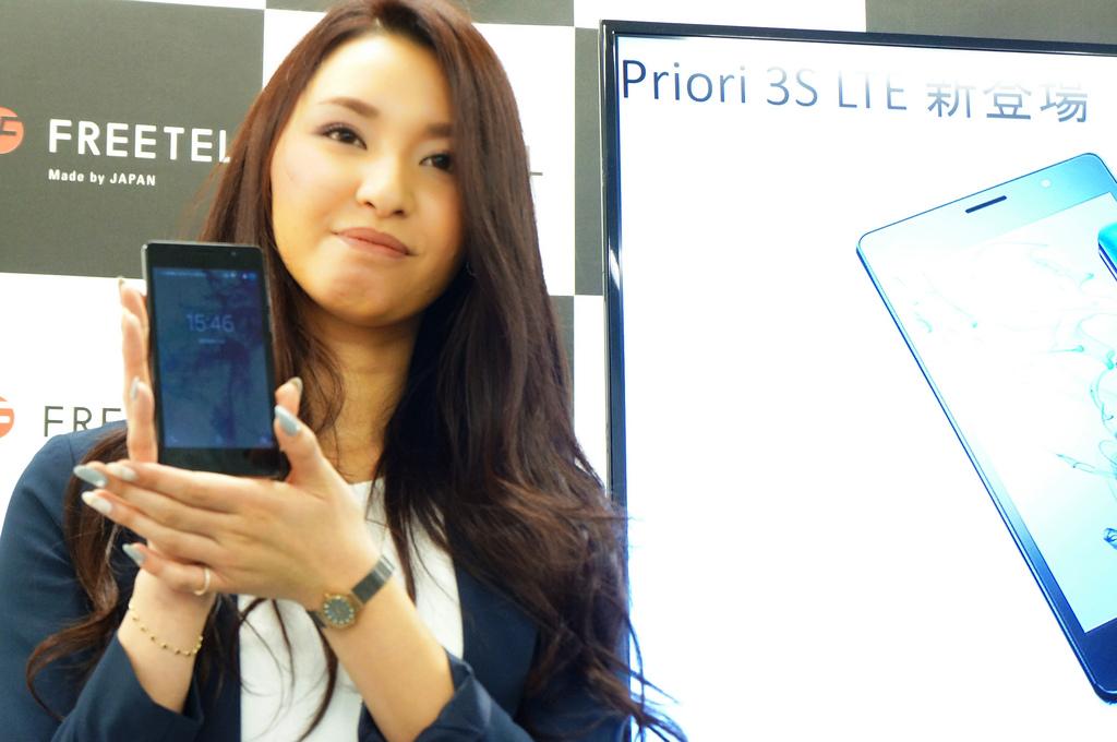 5インチ史上最強スタミナ、17,800円「Priori 3S LTE」が2月発売――大容量4,000mAhバッテリー搭載