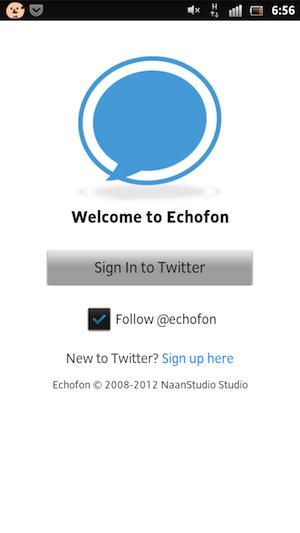iPhoneの人気Twitterクライアント「Echofon」のAndroid版が開発中。