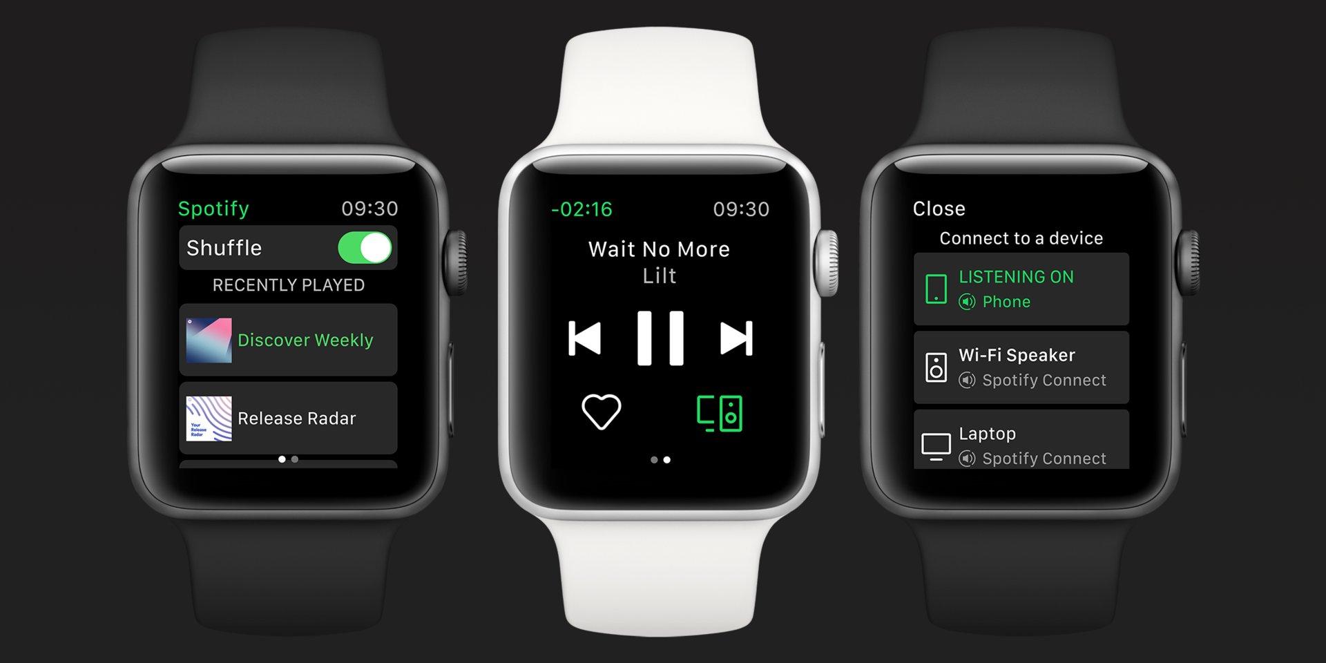 ようやく「Spotify」のApple Watchアプリが登場。オフライン再生の予告も
