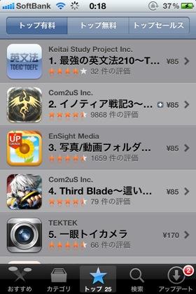 Apple、App Storeの全アプリを約30%値下げ!115円のアプリは85円に!