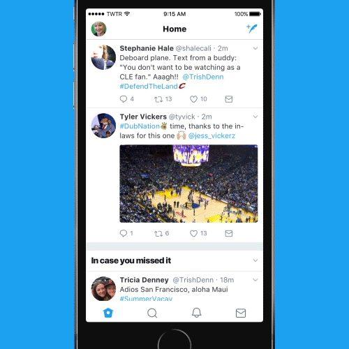 Twitter、公式アプリのデザインを大幅リニューアル