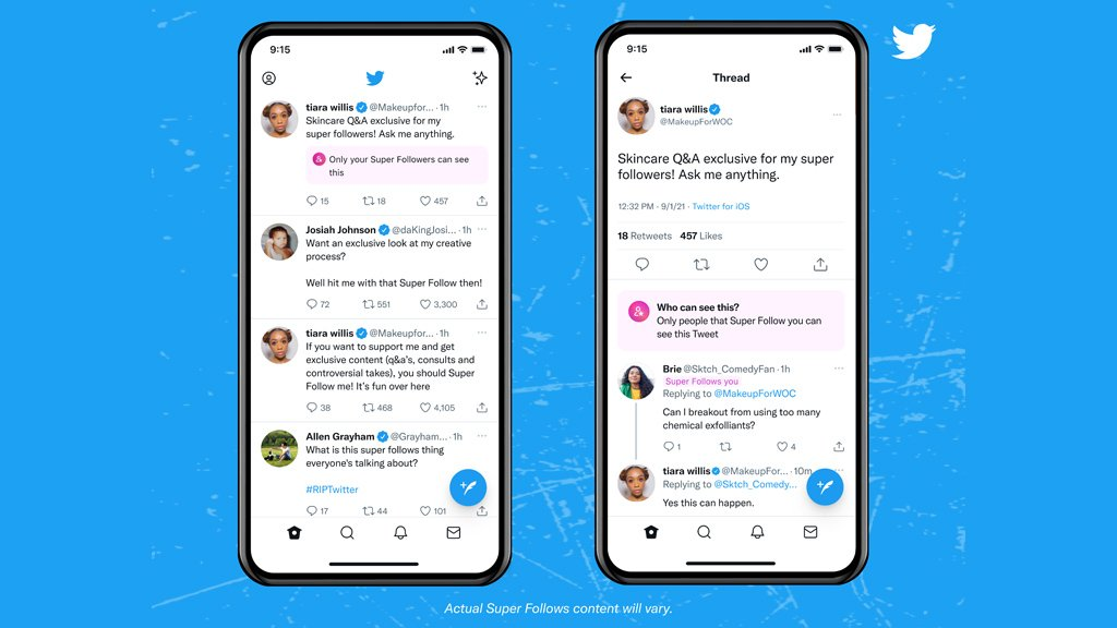 Twitter、サブスクで収益化できる「スーパーフォロー」提供開始。日本未提供