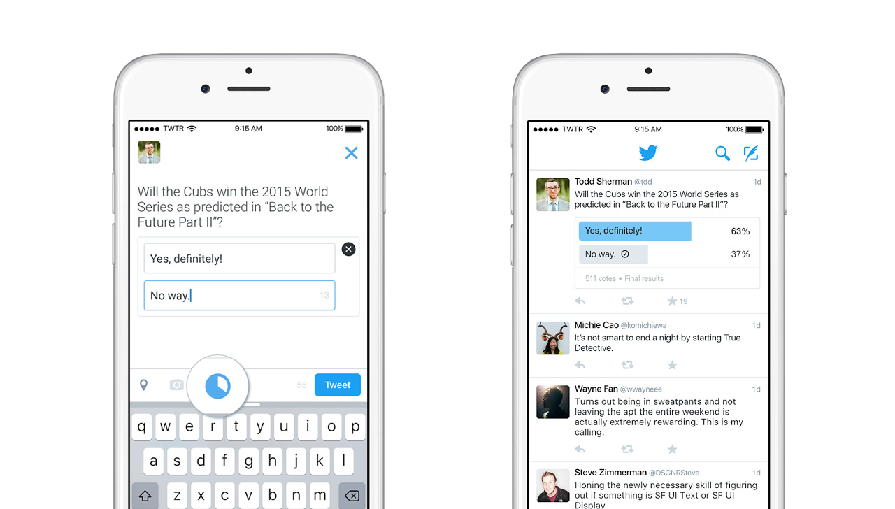 Twitter、新機能「アンケート投票」を提供開始――数日後に全ユーザーが利用可能に