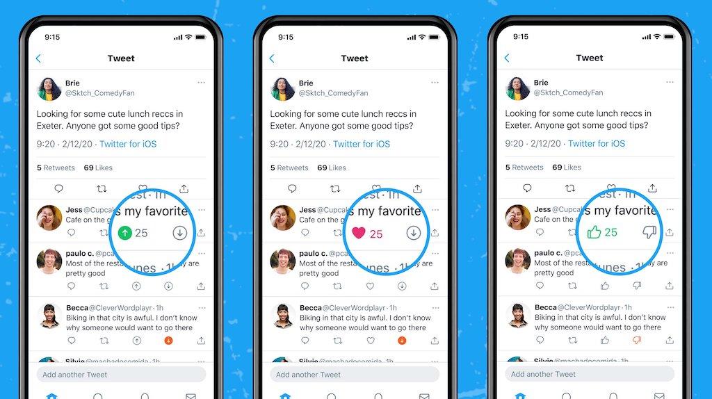 Twitter、いいね・よくないねボタンで調査開始。一部iOSユーザー向け