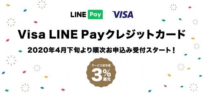 Visa LINE Payカード、4月下旬に受付開始。3%還元は21年4月末まで