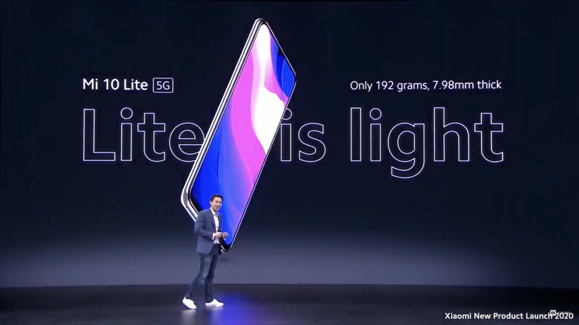 シャオミ、5G対応・約4万円の「Mi 10 Lite 5G」発表。日本ではauから