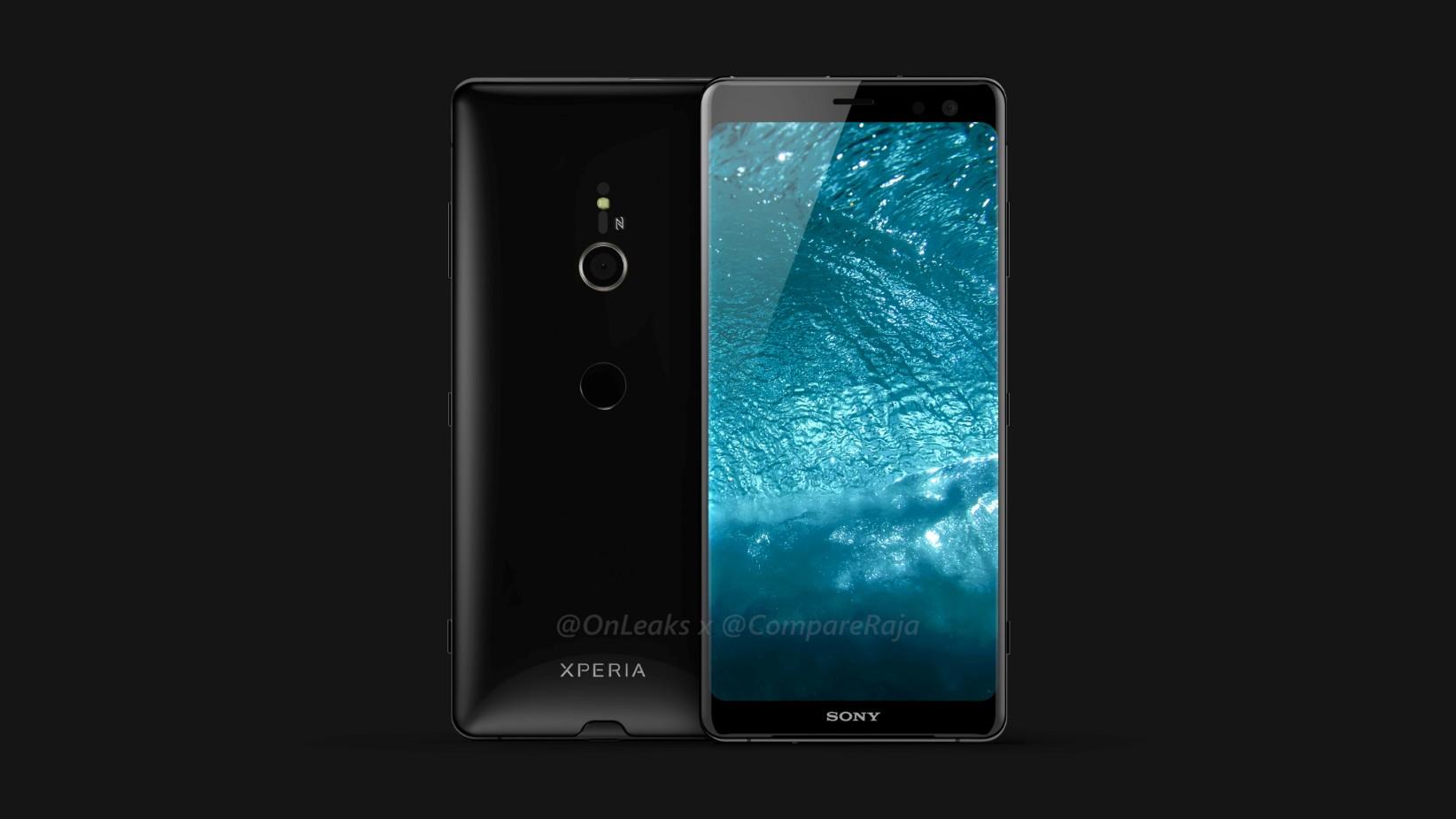 「Xperia XZ3」のレンダー画像が登場。デザイン改善、シングルカメラ搭載か